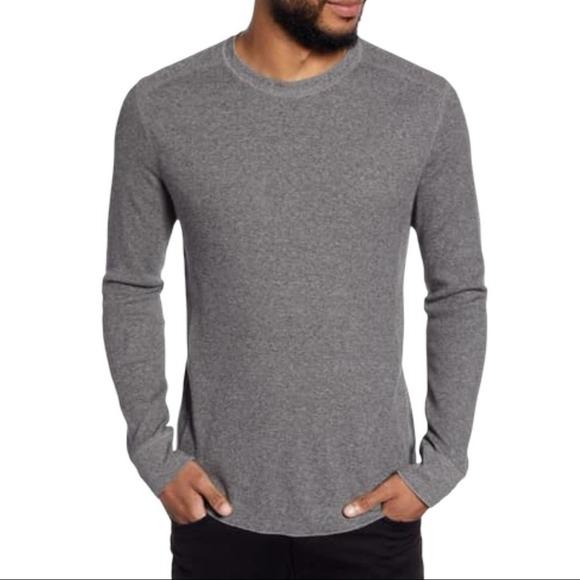 Vince Waffle Knit Long Sleeve Cotton Shirt